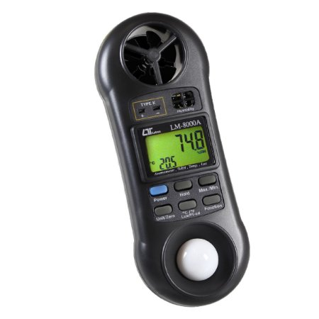 Termo-higro Anemômetro-luxímetro Digital - 5 Em 1- Lm8000