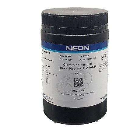 Cloreto Ferro III Hexahidratado PA ACS 500gr Neon