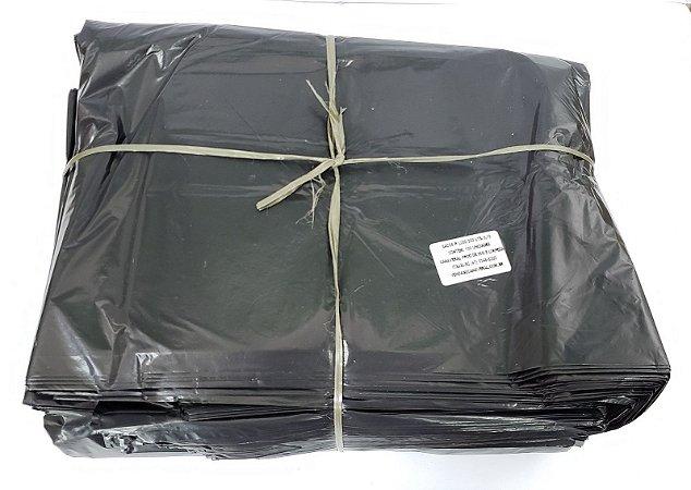 Saco de lixo 200 litros preto reforçado 0,10 com 100