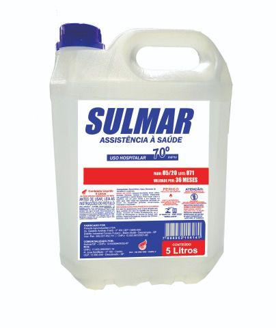 Álcool líquido 70 galão de 5 litros
