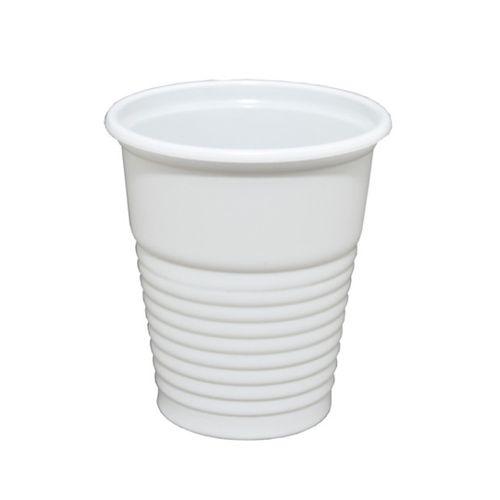Copo descartável de chá 80ml branco com 100