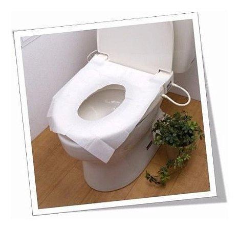 Forro de assento sanitário de papel descartável refil com 40 unidades