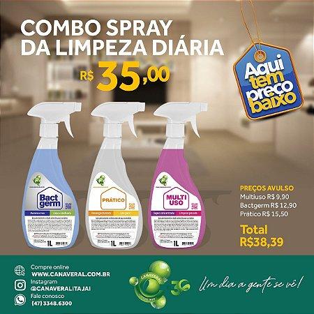 Combo limpeza diária com 3 de 1L spray