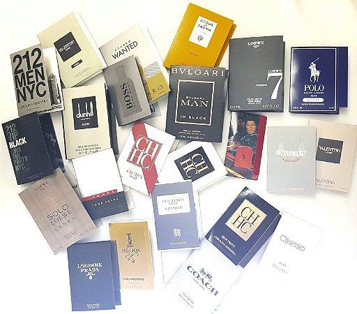 Kit de 25 Amostras de Perfumes Importados  Disponíveis  na  descrição do anúncio