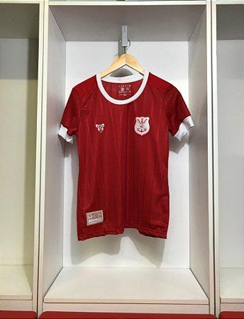 Camisa Náutico - Listrada Vermelha/ Escudo 1901 - Dry