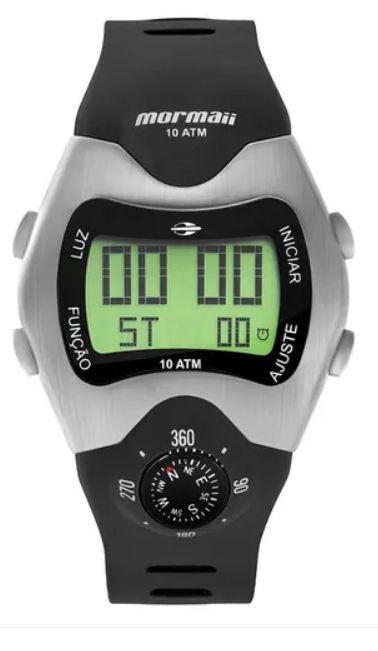 Relógio Mormaii Masculino Bússola Preto MO1324AB/1P