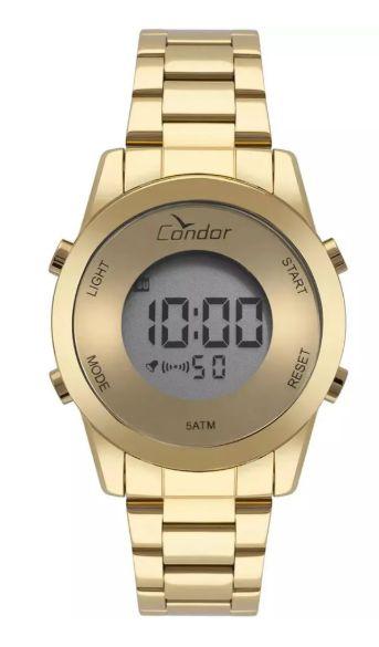 Relógio Condor Digital  Dourado Feminino - COBJ3279AA/4D
