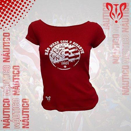 """Camisa Ribana CNC Timbushop """"Não mexe com o Gigante"""" - Feminina"""