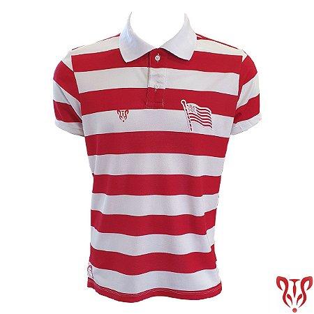 Camisa Náutico Timbushop - Polo Piquet Listras - Masculina