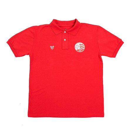 Camisa Náutico Timbushop - Polo Piquet Rubro - Masculina