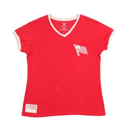 Camisa Náutico Timbushop - Bandeira do Hexa - Retrô Basica - Feminina