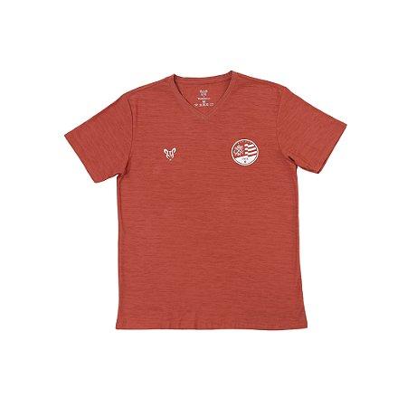 Camisa Náutico Timbushop - Escudo atual Flame - Gola V - Masculina
