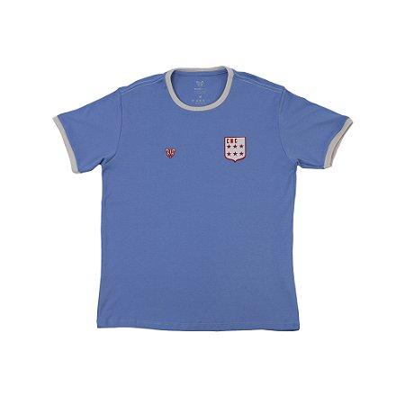 Camisa Náutico Timbushop- Suedine Escudo Década de 70 - Masculino