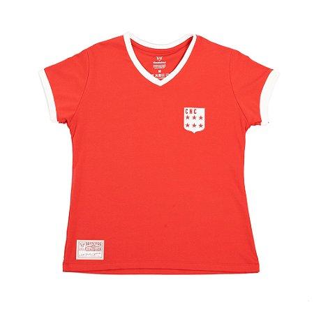 Camisa Náutico Timbushop - Escudo Década de 70 - Retrô - Basica Feminina