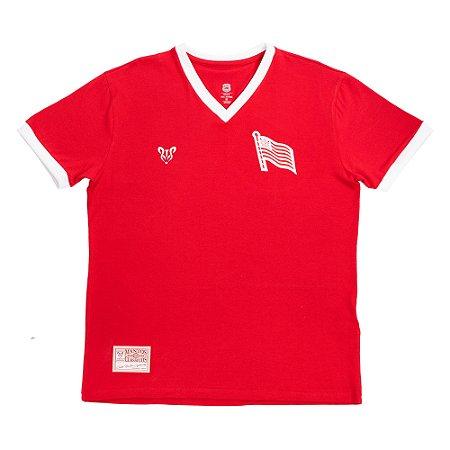 Camisa Náutico Timbushop - Bandeira do Hexa - Retrô - Feminina