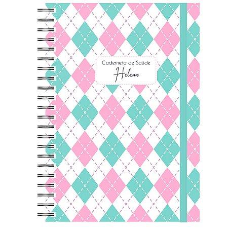 Caderneta de Saúde - Losango Verde/Rosa