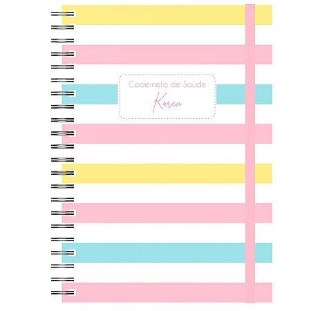 Caderneta de Saúde - Listrado Cor Pastel