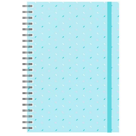 Caderno A5 : Confete Fundo Azul