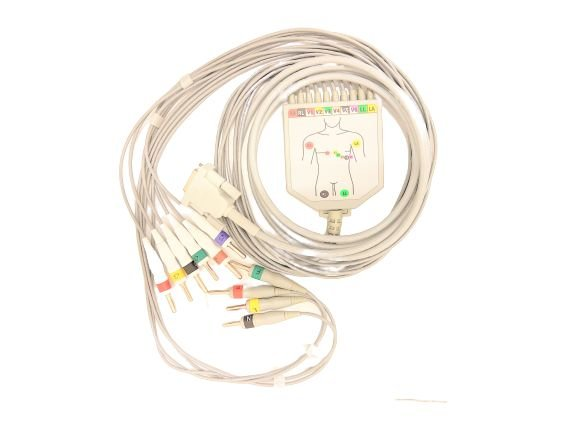 Cabo paciente 10 Vias Ecafix ECG 12 S Compatível