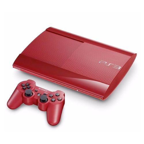 Console PlayStation 3 Super Slim Vermelho 120GB Seminovo - Sony