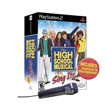 High School Musical: Sing It! + Microfone - PS2