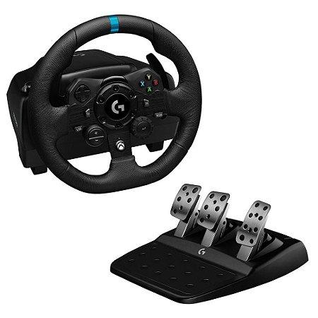 Volante G923, Xbox One, Xbox Series S/X , PC com Force Feedback TRUEFORCE Logitech
