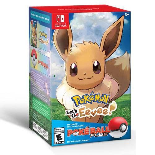 Pokémon Let's Go Eevee! Poke Ball Plus Bundle – Nintendo Switch