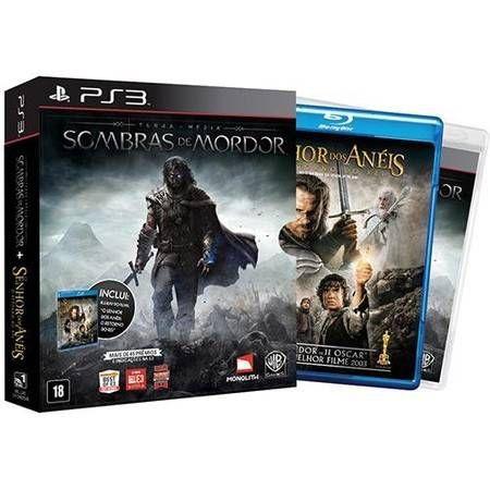 Terra-Média: Sombras de Mordor + Blu-Ray Seminovo – PS3