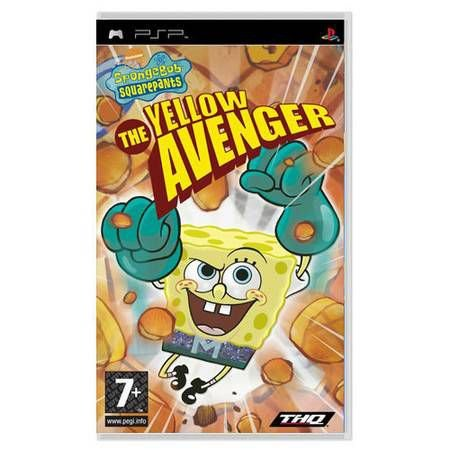 Spongebob Squarepants The Yellow Avenger Seminovo – PSP