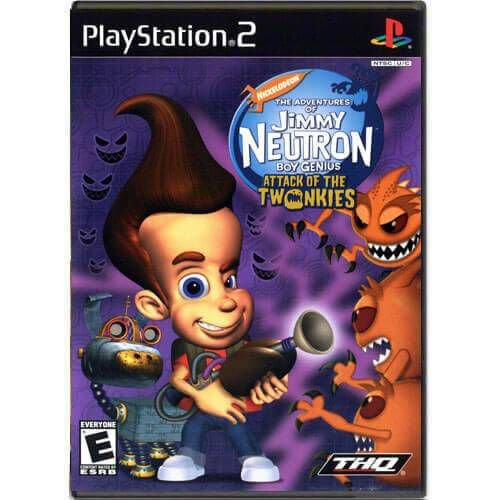 The Adventures of Jimmy Neutron Boy Genius Attack of The Twonkies Seminovo – PS2