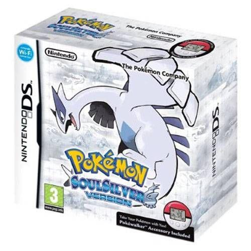 Pokémon Soul Silver Version + Pokéwalker Seminovo - DS