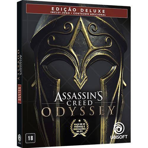 Assassin's Creed Odyssey Edição Deluxe (SteelBook) Seminovo - PS4