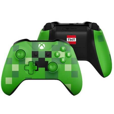 Controle Xbox One S Minecraft Creeper