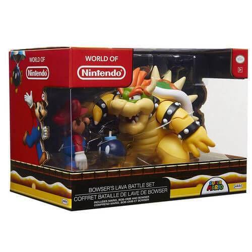 World Of Nintendo Bowser's Lava Battle Set 3 Pack  - Nintendo