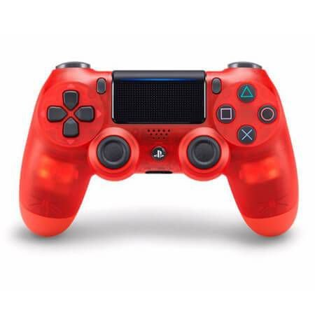 Controle Sem Fio - Dualshock 4 Crystal Vermelho - PS4