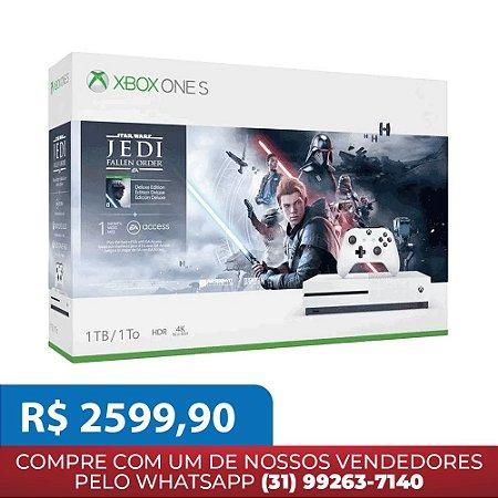 Console Xbox One S 1TB Com Jogo Star Wars Jedi Fallen Order Deluxe Edition