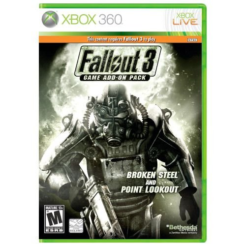 Fallout 3 Game Add-On Pack - Broken Steel and Point Lookout Seminovo – Xbox 360