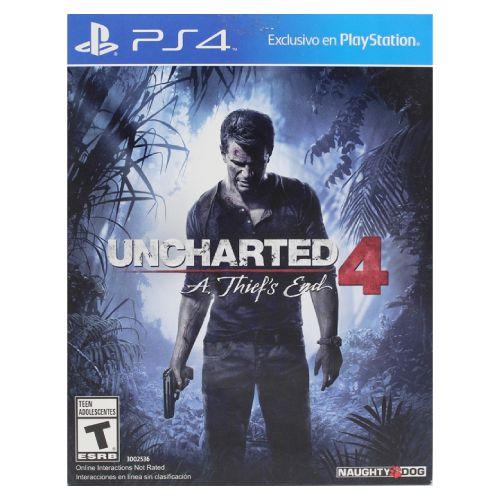 Uncharted 4: A Thief's End Seminovo (Encartelado) – PS4