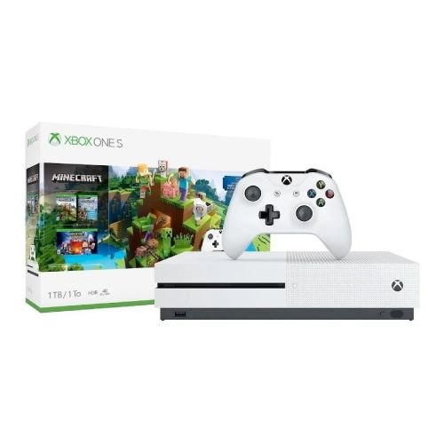 Console Xbox One S 1Tb 4K Bundle Minecraft Edition