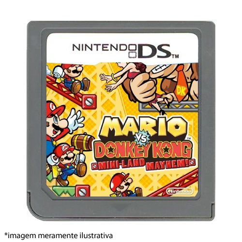 Mario Vs Donkey Kong: Mini-Land May Hem! Seminovo (SEM CAPA) - Nintendo DS