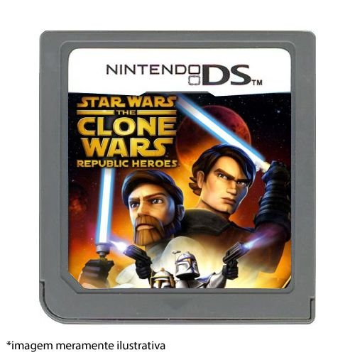 Star Wars: The Clone Wars – Republic Heroes Seminovo (SEM CAPA) - DS
