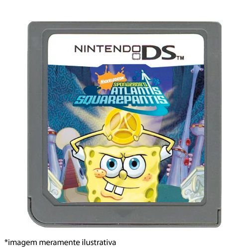 Spongebob's Atlantis Squarepantis Seminovo (SEM CAPA) - Nintendo DS