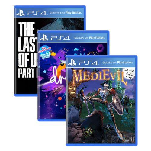 Triple Pack #2 - The Last of Us Part II / Dreams / MediEvil - PS4