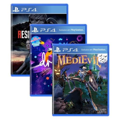 Triple Pack #3 - Resident Evil 3 / Dreams / MediEvil - PS4