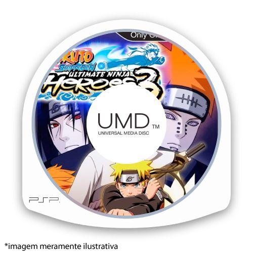 Naruto Shippuden: Ultimate Ninja Heroes 3 (SEM CAPA) Seminovo - PSP