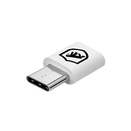 Adaptador Micro USB para Type-C - Branco - Gshield