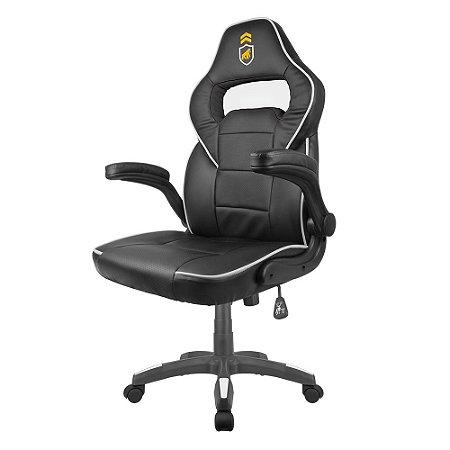 Cadeira Gamer Armor Preta com Branco - Gshield