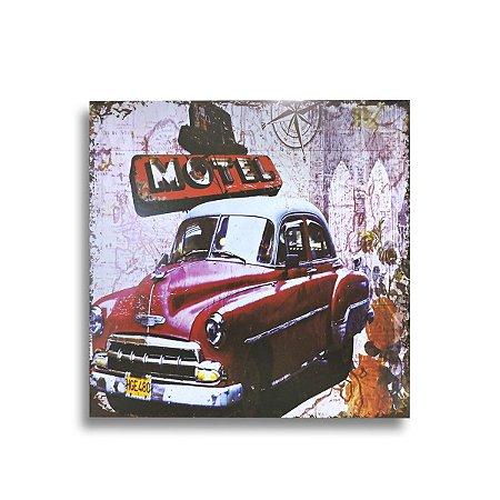 QUADRO DE MADEIRA CAR 01 27 CM