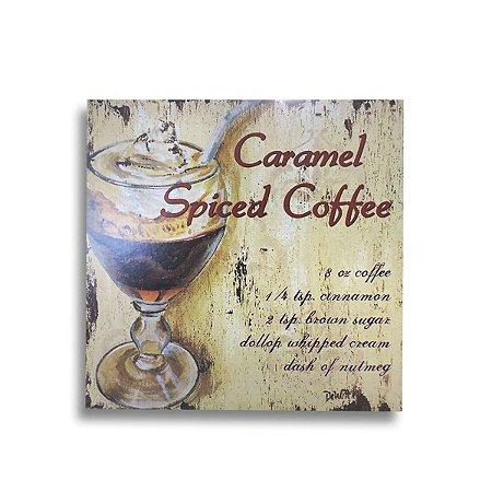 QUADRO DE MADEIRA COFFEE 27 CM