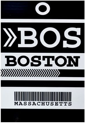 PLACA BOSTON 20 X 30 CM